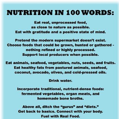Nutrition in 100 words