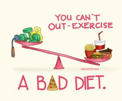 Exercise a bad diet